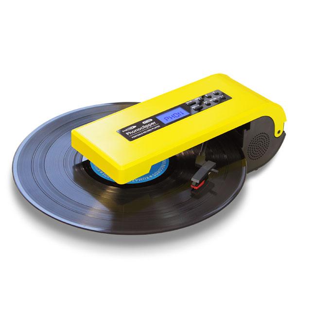 どこでもレコードを楽しめる超小型プレーヤー!