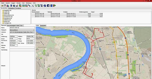 移動行程を確認できるGPSデータロガー