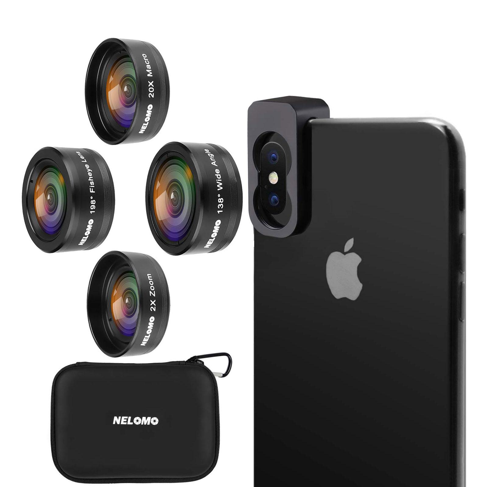 NELOMO スマホカメラ用4イン1レンズキット