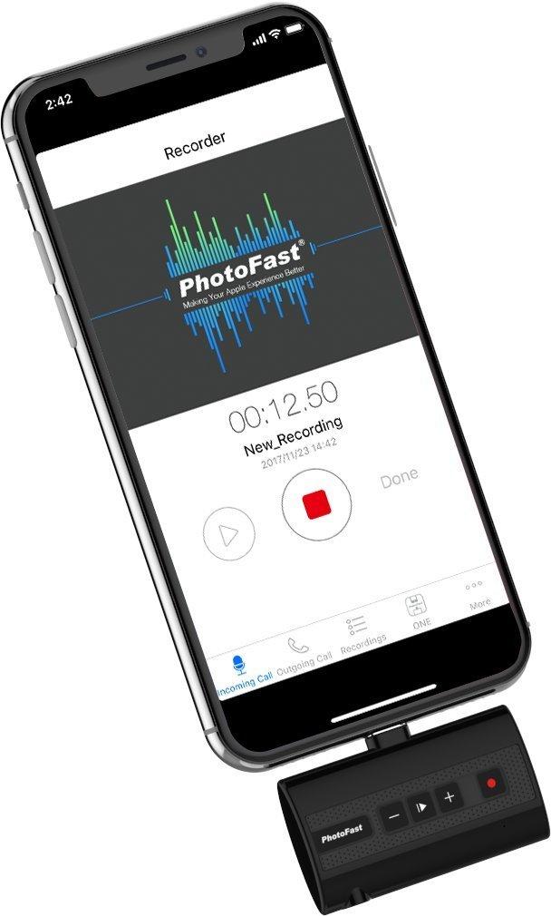 iPhoneの通話を録音してテキスト出力できるデバイス