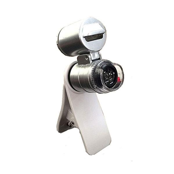 簡単取付け スマホ用顕微鏡  倍率60倍