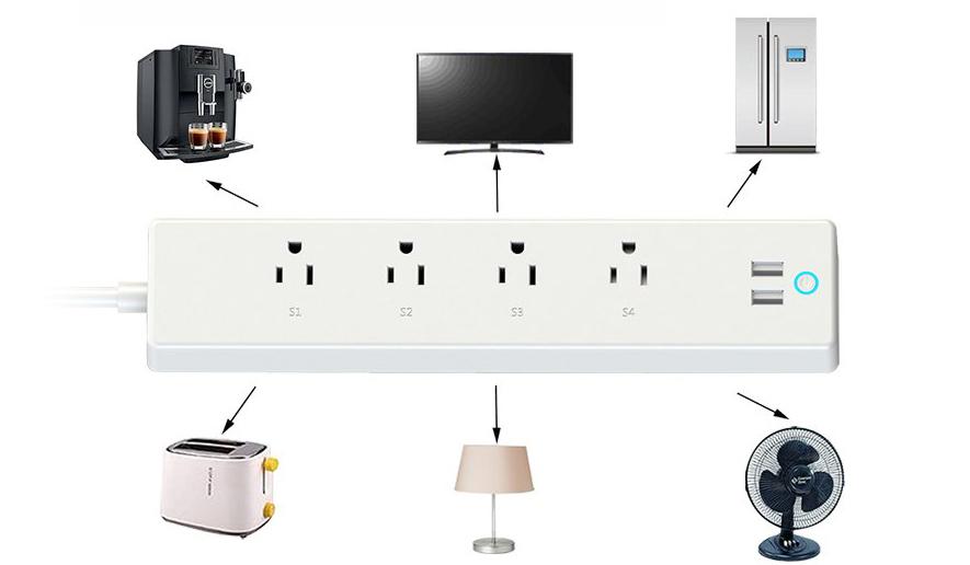 アナログ家電すべての電源を制御できるスマートコンセント