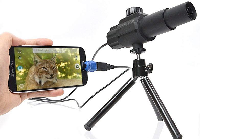 スマホでもパソコンでも使える「70倍超望遠カメラ」