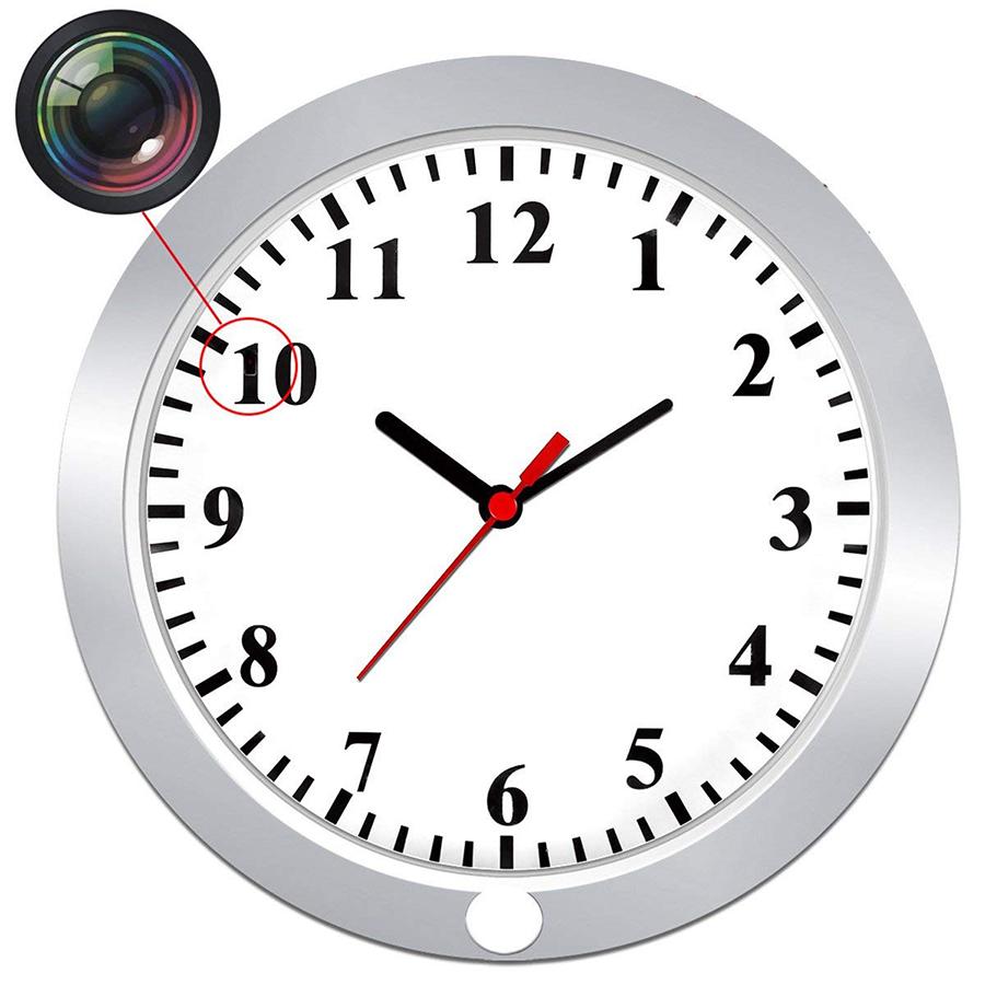 壁掛け時計型「隠しカメラ」外部電源で常時録画可能!
