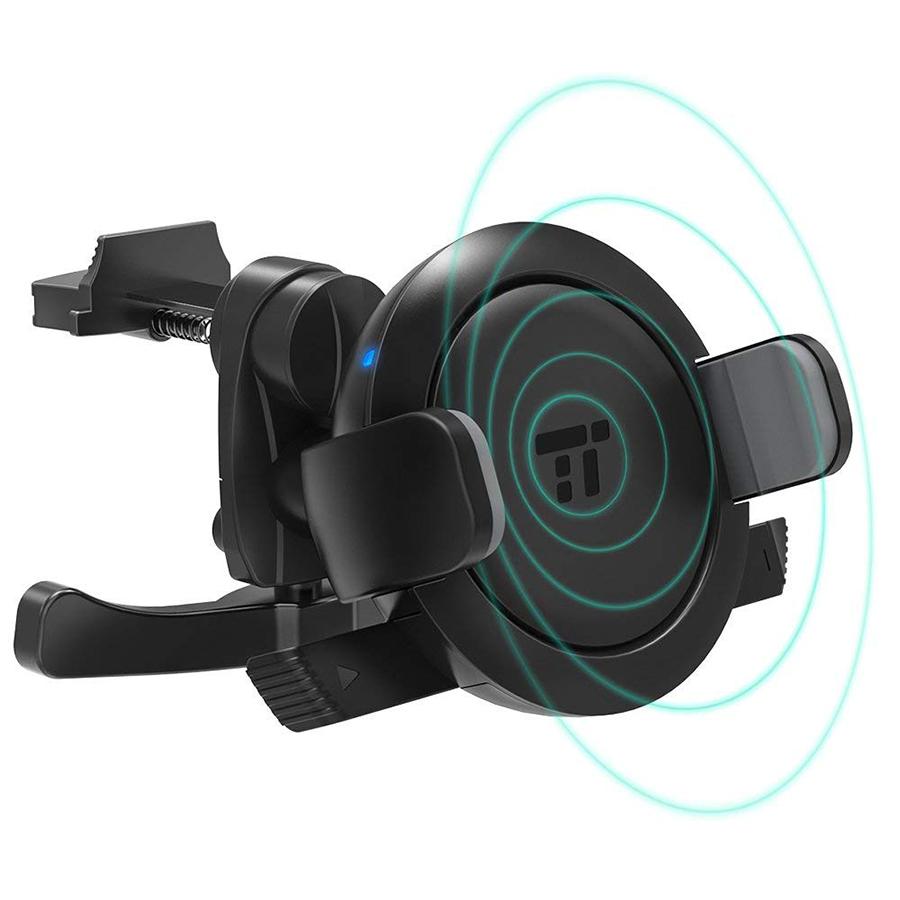 【ワイヤレス充電器】車のエアコン吹き出し口に装着できる