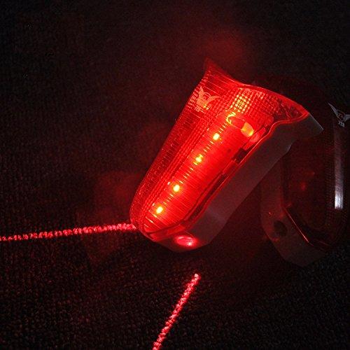 「LED自転車用テールライト」レーザーで車に接近を知らせる