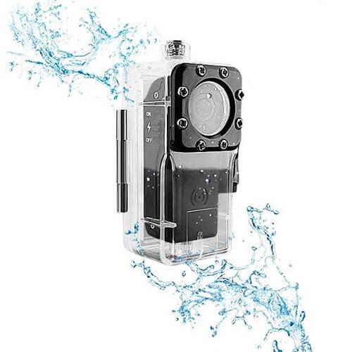 小型防水隠しカメラ 動体検知 赤外線暗視 電池式