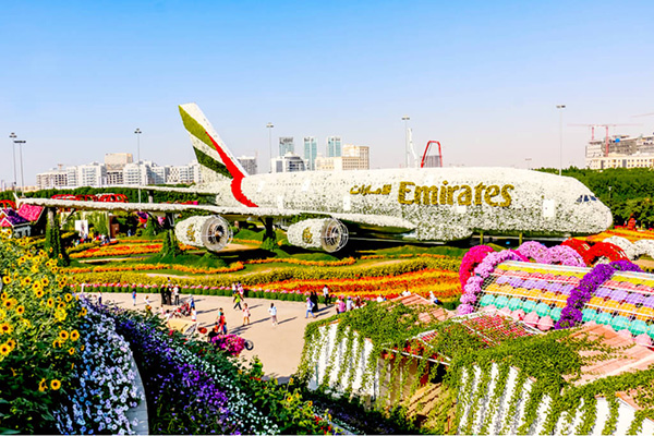 【UAE】ドバイのカラフルすぎる観光地「ドバイ・ミラクル・ガーデン」