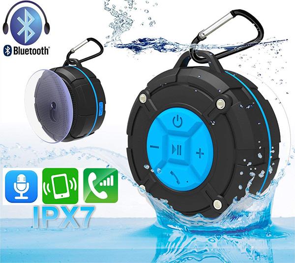 【人気】防水Bluetoothポータブルスピーカー お風呂でも楽しめる!