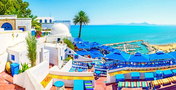 【チュニジア】シディ・ブ・サイド「白と青の小さな楽園」と称される