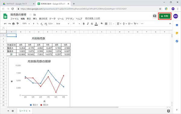 【スプレッドシート】Googleドライブに保存したファイルを共有する方法