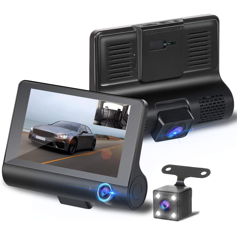 【2019最新版 3カメラ搭載】ドライブレコーダー 前後カメラ