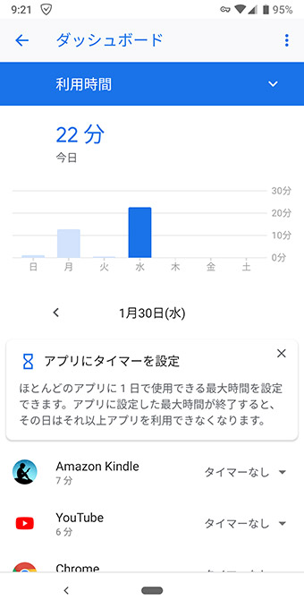 【Android】スマホ中毒を防ぐ「Digital Wellbeing」アプリの使い方
