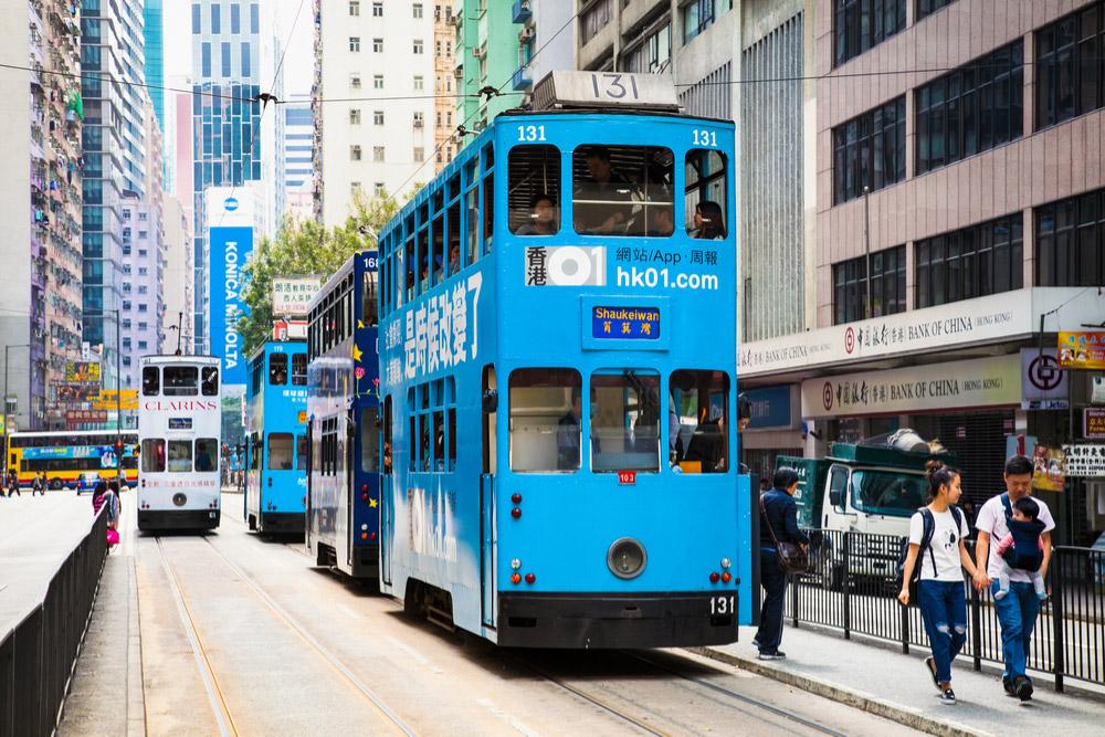 香港がたった32円で楽しめる路面電車(トラム)の乗り方や路線図