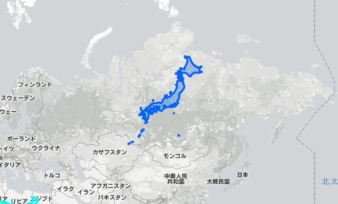 【雑学・豆知識】世界地図を眺めていると小国に見える日本だが実際は意外に大きい!