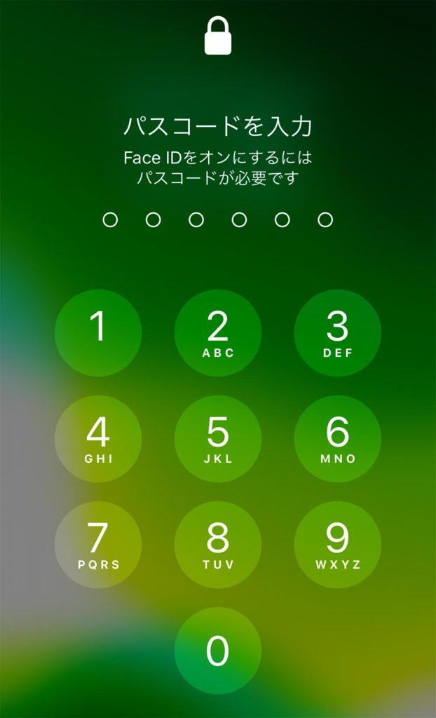 マスクをしていてiPhoneのFace IDで顔認証ができないときの対処方法