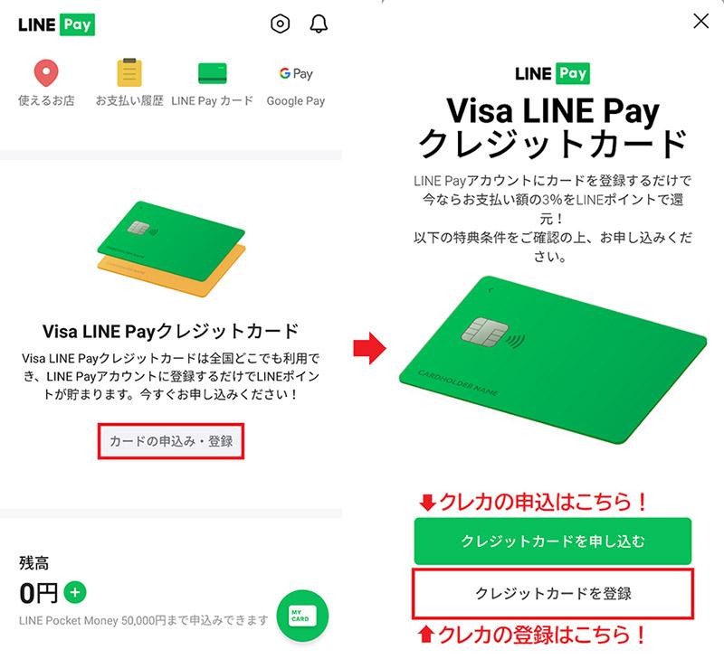 Line ペイ クレジット カード